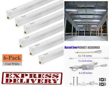 6 Pack LED Shop Light 4FT 6500K T5 Garage Ceiling Lights Bright Ceiling Fixture