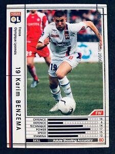 2006-07 Panini Sega WCCF Karim Benzema Lyon soccer card Real Madrid France
