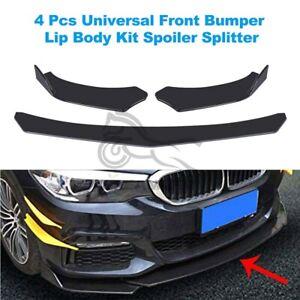 Glossy Black ABS Car Universal Front Bumper Lip Chin Spoiler Splitter Body Kit