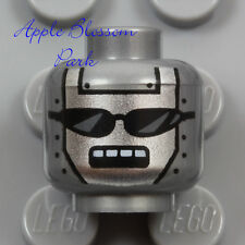 NEW Lego ROBOT MINIFIG SILVER HEAD Movie Executron Metal Black Sun Glasses 70803