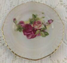 Vintage China Pink Roses Gold Trim  - Small Ring Holder or Trinket Dish
