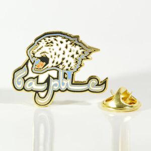 "KHL Barys Astana ""Emblem Carved"" pin, badge, lapel, hockey"