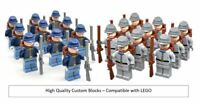 American Civil War North South Confederate Troop Soldier Army LEGO Minifigure