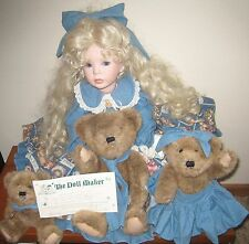 AUTHENTIC THE DOLL MAKER GOLDILOCKS AND THE 3 BEARS DOLL BY LINDA RICK 109/2500