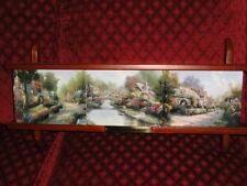 Lamplight Memories 3 plate set by Thomas Kincade