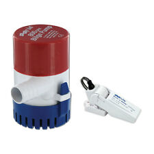 "Rule 800 GPH. Boat Bilge Pump Non Auto w/ Rule A.Matic Float Switch 3/4"" 20R-35A"