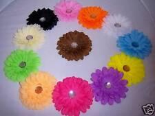 "YOU PICK 3 glitz DAISY 4"" FLOWER HAIRBOWS HEADBAND hat"