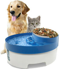 Pet Water Fountain For Cat Dog Automatic Food Bowl Dish Feeder Dispenser 3 in 1