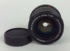 MINOLTA MD W.ROKKOR-X 24mm f2.8 WIDE ANGLE MANUAL FOCUS LENS