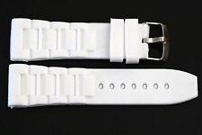 28MM WHITE RUBBER SILICONE COMPOSITE SPORT WATCH BAND STRAP FITS INVICTA
