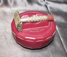 New Listingvintage His burgandy shaving bowl - soap - Gillette safety razor