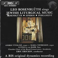 Leo Rosenbluth sings Jewish Liturgical Music by Ephros, Pergament and Rosenbluth