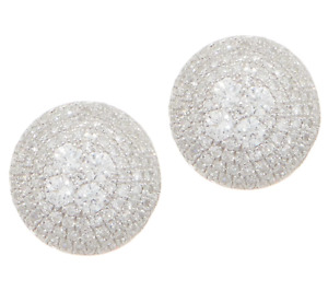 Affinity Diamond 3/4 cttw Round Pave' Sterling Stud Earrings - QVC $750