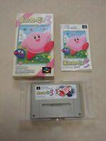 Hoshi no Kirby 3 Super Famicom SNES SFC Nintendo game box manual tasted  Japan