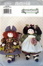 "©1995 UNCUT Butterick Sewing Pattern # 4280 ""20"" Decorative Collectible Dolls"""