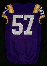 Lsu Tigers Game Used Purple Jersey Player Worn by #57 With Nameplate Removed