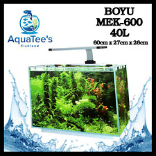 BOYU MEK-600 AQUARIUM COMPLETE FISH WATER TANK 40-L PUMP FILTER LED MARINE NANO