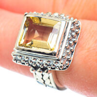 Citrine 925 Sterling Silver Ring Size 7.5 Ana Co Jewelry R51879F