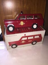 "Rare 1967 Tonka Fire Chief 9"" Jeep Wagoneer Station Wagon Toy Car Truck W/Box"