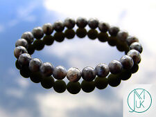 Chinese Labradorite Natural Gemstone Bracelet 7-8'' Elasticated Healing Chakra