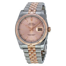 Rolex Datejust Pink Champagne Dial Steel and 18K Pink Gold Automatic Mens Watch