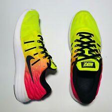 Nike Lunarstelos OC Mens Sz 8.5 Pink Neon Running Shoes 844738 999 Gym 2016