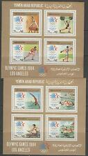YEMEN SGMS769 1984 OLYMPIC GAMES 2 SHEETS MNH