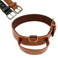 Heavy Duty Leather Dog Collars with Handle Quick Control Training Dobermans S-L