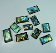 440Cts. Natural Spectrolite Labradorite Octagon Gemstone Lot 10Pcs Gemedh