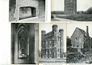 ELEVEN PRINTED POSTCARDS OFTATTERSHALL CASTLE LINCOLNSHIRE ALL UNPOSTED.