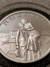 Bonnie and Clyde Public Enemy #1 2 oz .999 silver round bank robber gangster NEW