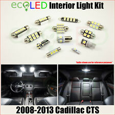 For 2008-2013 Cadillac CTS WHITE LED Interior Light Accessories Kit 13 Bulbs