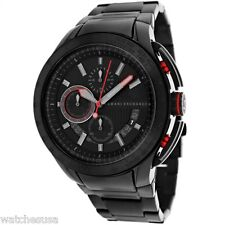 Armani Exchange Chronograph Black Dial Black Stainless Steel Mens Watch AX1404