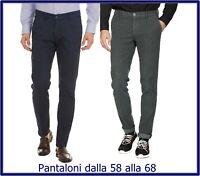 pantaloni da uomo taglie forti invernali eleganti elasticizzati chino 58 60 62