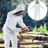 Beekeeper Protection Suit Bee Keeping All Body Jacket for Beekeeper XL White