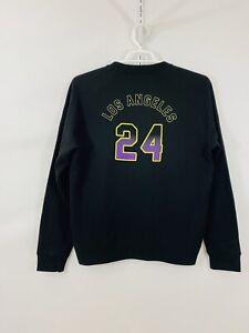"""Men's """"Los Angeles 24""""Lakers Kobe Bryant Black Sweatshirt SZ M NEW NWOT"""