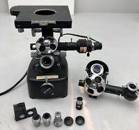 Vintage UNITRON MeC 8478 Microscope w/objectives/light source PARTS UNIT & more