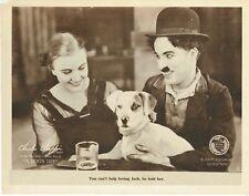 A DOG'S LIFE, original 1918 silent Lobby Card, CHARLIE CHAPLIN, Best Scene Card