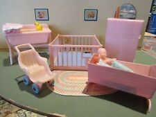 Dollhouse Miniature Vintage Renwal PINK NURSERY SET 1:16