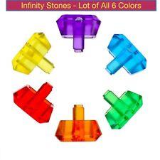 Infinity Stone PurplRedOrngYelwGrnBlue LEGO /&compatible Choose Infinity Gauntlet