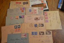 lot lettres années 20/40 sélection d'affranchissement