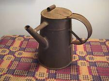19th Century Side Spout Tin Coffee Pot