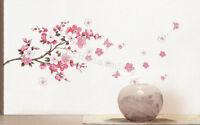 NEW Peach Blossom Vinyl Removable DIY Room Decor Wall Sticker Decal 45cm*60cm