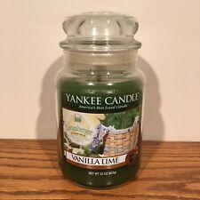 Yankee Candle Vanilla Lime 22oz large jar 2011 Longaberger Basket Festival