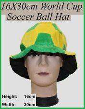 AUSSIE Green Yellow SOCCER BALL HAT Australia Commonwealth Olympic Soccer St Pat