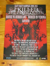 I KILLED THE PROM QUEEN - 2013  Australian Tour - Laminated Promotional Poster
