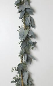 GISELA GRAHAM CHRISTMAS FOLIAGE GREEN EUCALYPTUS LEAF GARLAND 180cm