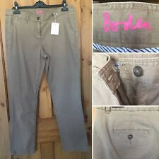 BNWOT Ladies BODEN Cotton Trousers Size UK 16R Stone Brown Chinos