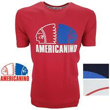 T-Shirt Uomo Manica Corta Paricollo 100% puro cotone AMERICANINO M L XL XXL 3XL