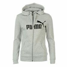 Puma No1 Logo Full Zip Hoody Womens Grey Hoodie Jacket Sweatshirt Top Sportswear